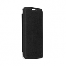 XQISIT Flap Cover Adour for Galaxy S7 Edge black-1