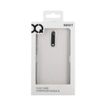 Xqisit Flex Case Silikone cover til Nokia 8, Gennemsigtig-1