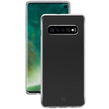 Xqisit Flex Case Silikone cover til Samsung Galaxy S10, Gennemsigtig-1