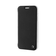 Xqisit flip cover til Samsung Galaxy A3 (2017) Transparent/Sort-1