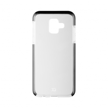 XQISIT Mitico Bumper TPU for Galaxy A6 (2018) clear/black-1