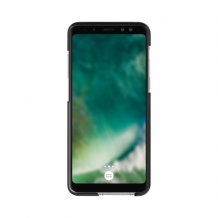 XQISIT Mitico Bumper TPU for Galaxy A8 (2018) clear/black-1