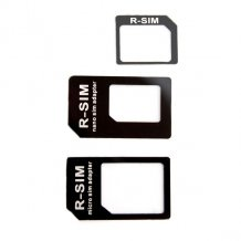 XQISIT Nano+Micro SIM Adapter black-1