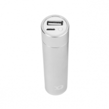 XQISIT Power Bank 2600 mAh microUSB silver colored-1