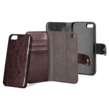Xqisit Slim Wallet Case Eman med aftageligt cover til iPhone SE / 5 / 5S - Brun-1