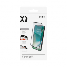 XQISIT Tough Glass E2E for iPhone XR black-1