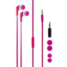 Xqisit headset med mikrofon pink