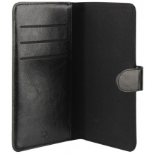 Xqisit Universal Wallet Case Eman Størrelse Large, Sort-1