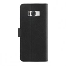 XQISIT Wallet case Viskan for Galaxy S8 Plus black-1