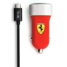 Ferrari biloplader 2.1A med 2 USB porte
