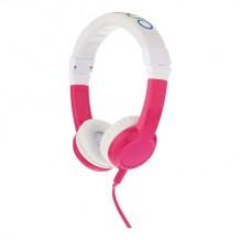 Foldbar børnehovedtelefon, Explore m. mic, pink